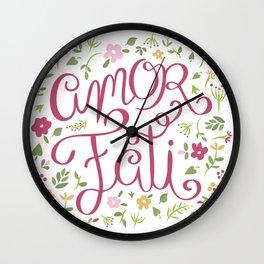 Amor Fati - Love of Fate Wall Clock