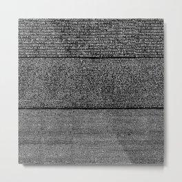The Rosetta Stone // Black Metal Print