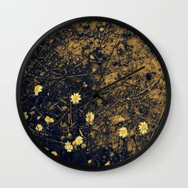 Daisys and Dirt Wall Clock