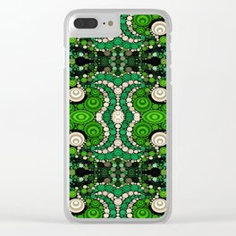 art retro pattern Clear iPhone Case