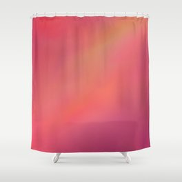 Red Blurred Shower Curtain