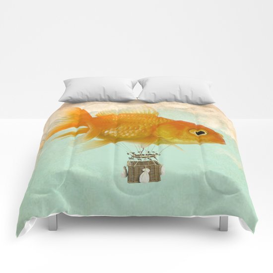 balloon fish 03 Comforters