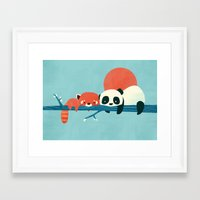 pandas Framed Art Prints featuring Pandas by Jay Fleck