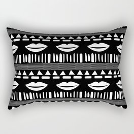 TRIBAL White and Black Rectangular Pillow