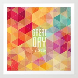 Geometric Colors Art Print