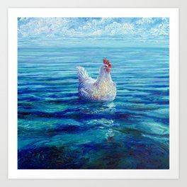 Chicken of the Sea Art Print