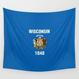 Wisconsin State Flag Wall Tapestry