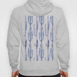 Blue Cactus Stack Pattern Hoody