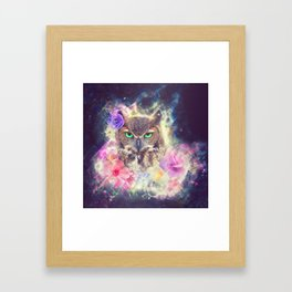 Space Owl with Spice Framed Art Print