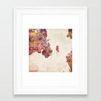copenhagen Framed Art Prints featuring Copenhagen by MapMapMaps.Watercolors