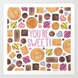 You're Sweet! Art Print
