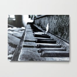 Forgotten Piano Metal Print