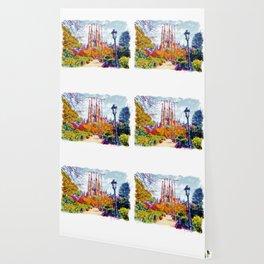 La Sagrada Familia - Park View Wallpaper