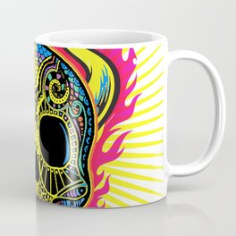 Flaming Skull White Coffee Mug