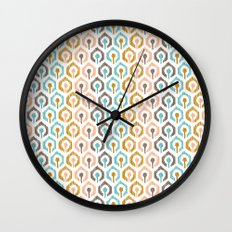 Honeycomb IKAT - Ivory Wall Clock