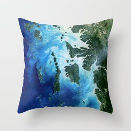 The southernmost reaches of Burma (Myanmar), the Mergui Archipelago along the border with Thailand Throw Pillow