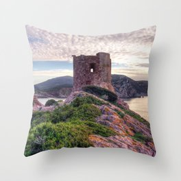 Tower of Porticciolo Throw Pillow
