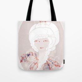 Portrait with Chick Tote Bag