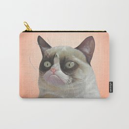 grumpy-cat-Orange Carry-All Pouch
