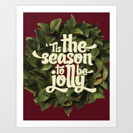 Tis the season to be jolly - holiday quote - christmas - instant download - seasonal - wall decor -  Art Print