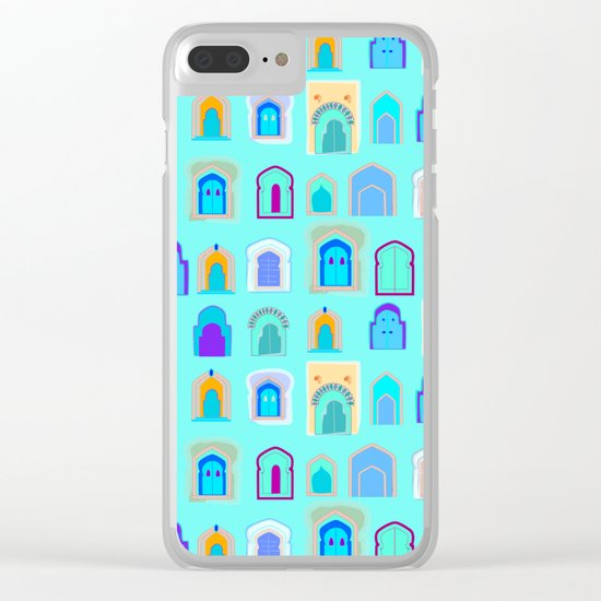 Moroccan Doors Clear iPhone Case