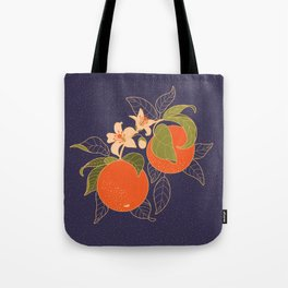 Orange Branch Tote Bag