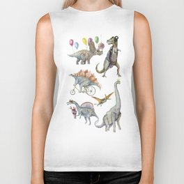 PARTY OF DINOSAURS Biker Tank