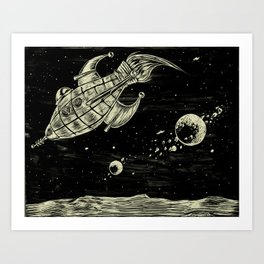 And Rockets! Art Print