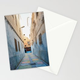 Maroccan Alleys. Fes, Marocco. Fine Art Travel Print. Colourful Wall Art. Stationery Cards