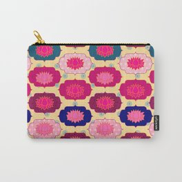 Lotus pattern Carry-All Pouch