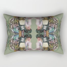 God Save The Queen - army green collage Rectangular Pillow
