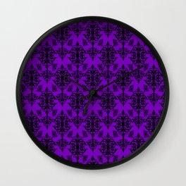 Violet Damask Wall Clock