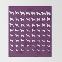 All Dogs (Plum) Throw Blanket