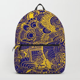 Tangled Blue and Yellow Backpack
