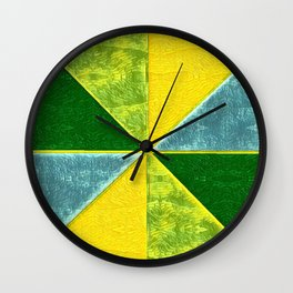 Abs Geometry lemon Wall Clock