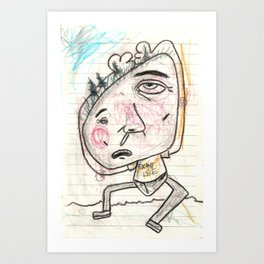 Itchy Head Art Print