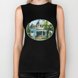 The House with Red Trim Biker Tank