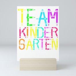 Team Kindergarten Back to School Outfit for Boys Girls Mini Art Print