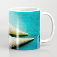 yetiland Mugs featuring Double Date by Olivia Joy StClaire