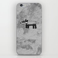 badger iPhone & iPod Skins featuring Badger by Nic Squirrell
