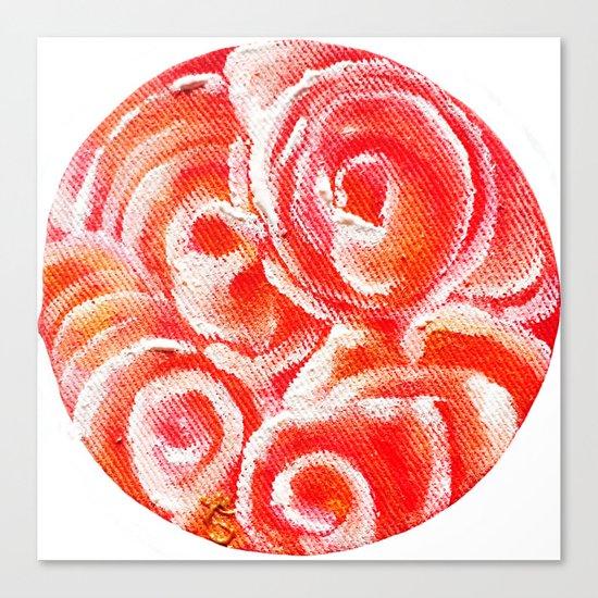 Peach Plum Dreams Canvas Print