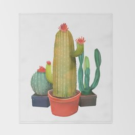 New Pocket Cactus Throw Blanket
