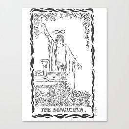 THE MAGICIAN TAROT CARD Canvas Print
