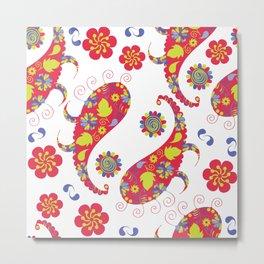 Paisley pattern #4D Metal Print