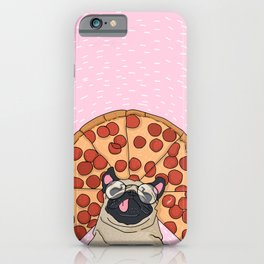 Funny Pug Pizza iPhone Case