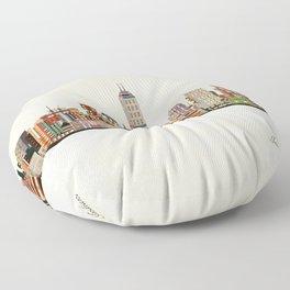 indianapolis indiana skyline Floor Pillow