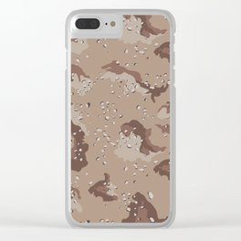 Desert Storm Army Camo Camouflage Military Uniform Pattern Fatigues USA Clear iPhone Case