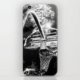 Black And White Basketball Art iPhone Skin