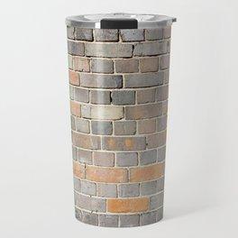 Ireland flag on a brick wall Travel Mug