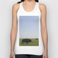 buffalo Tank Tops featuring Buffalo by AlanW